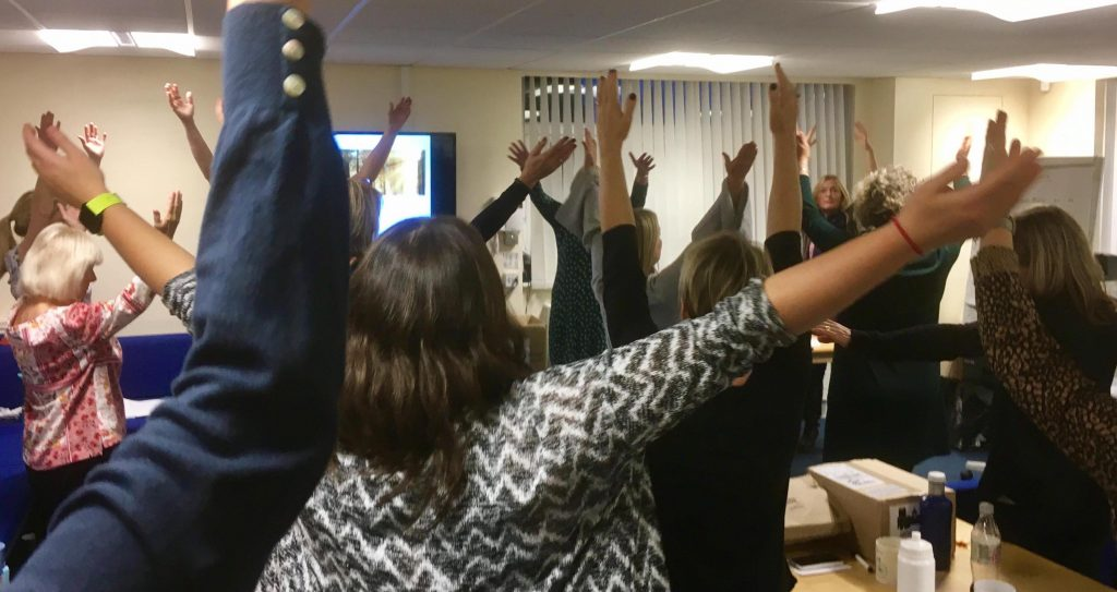 Teaching mindful movement to Primary School Staff